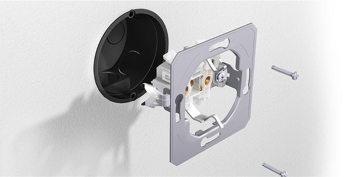 interruttore della luce incorporata - installazione
